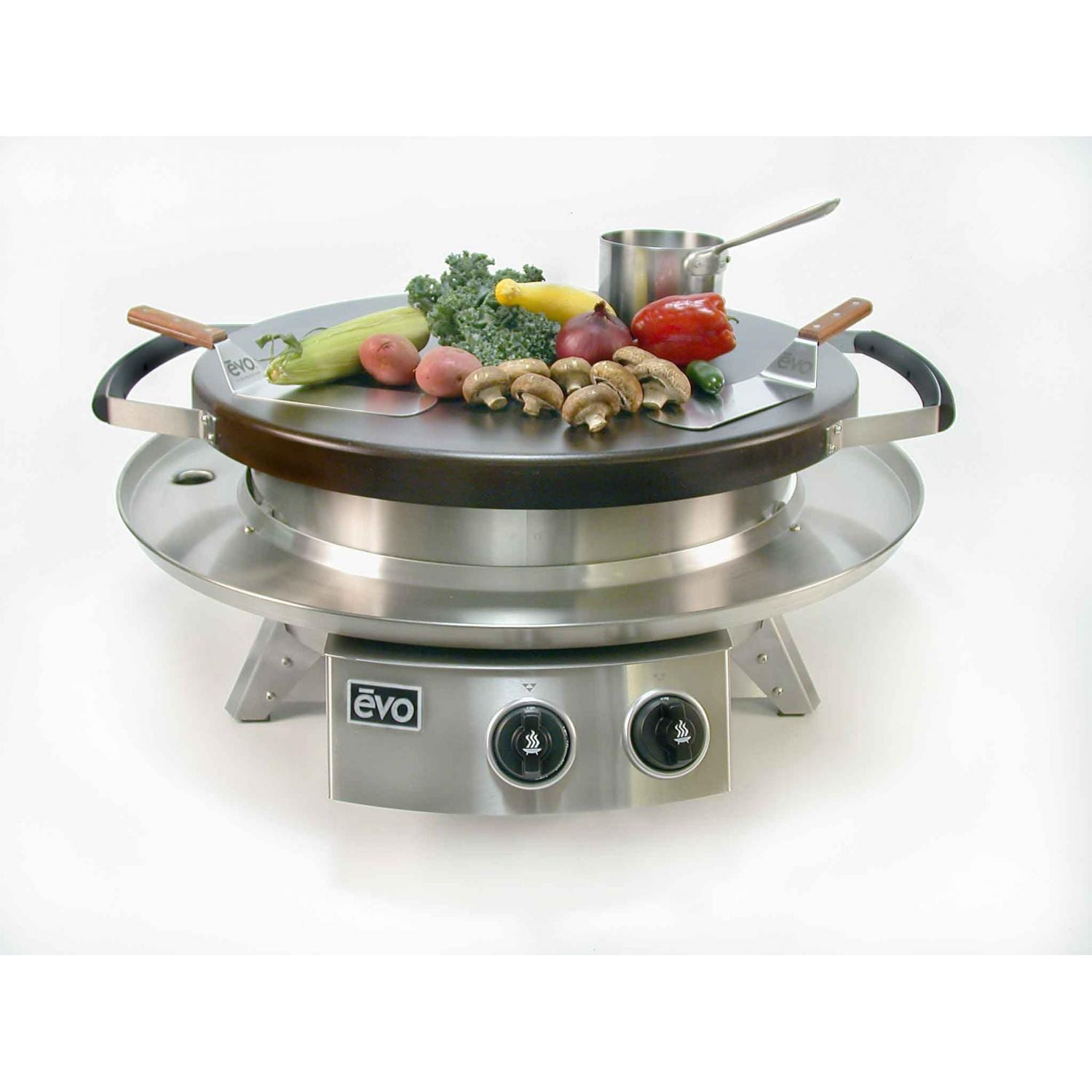 Evo Professional Classic Tabletop Flattop Natural Gas Grill ...