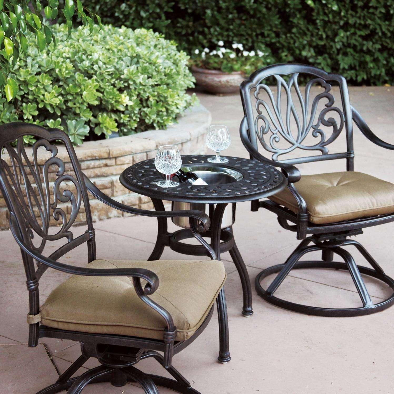 Darlee Elisabeth Patio Lounge Set   Antique Bronze