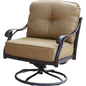 Darlee Nassau Cast Aluminum Swivel Rocker Patio Club Chair