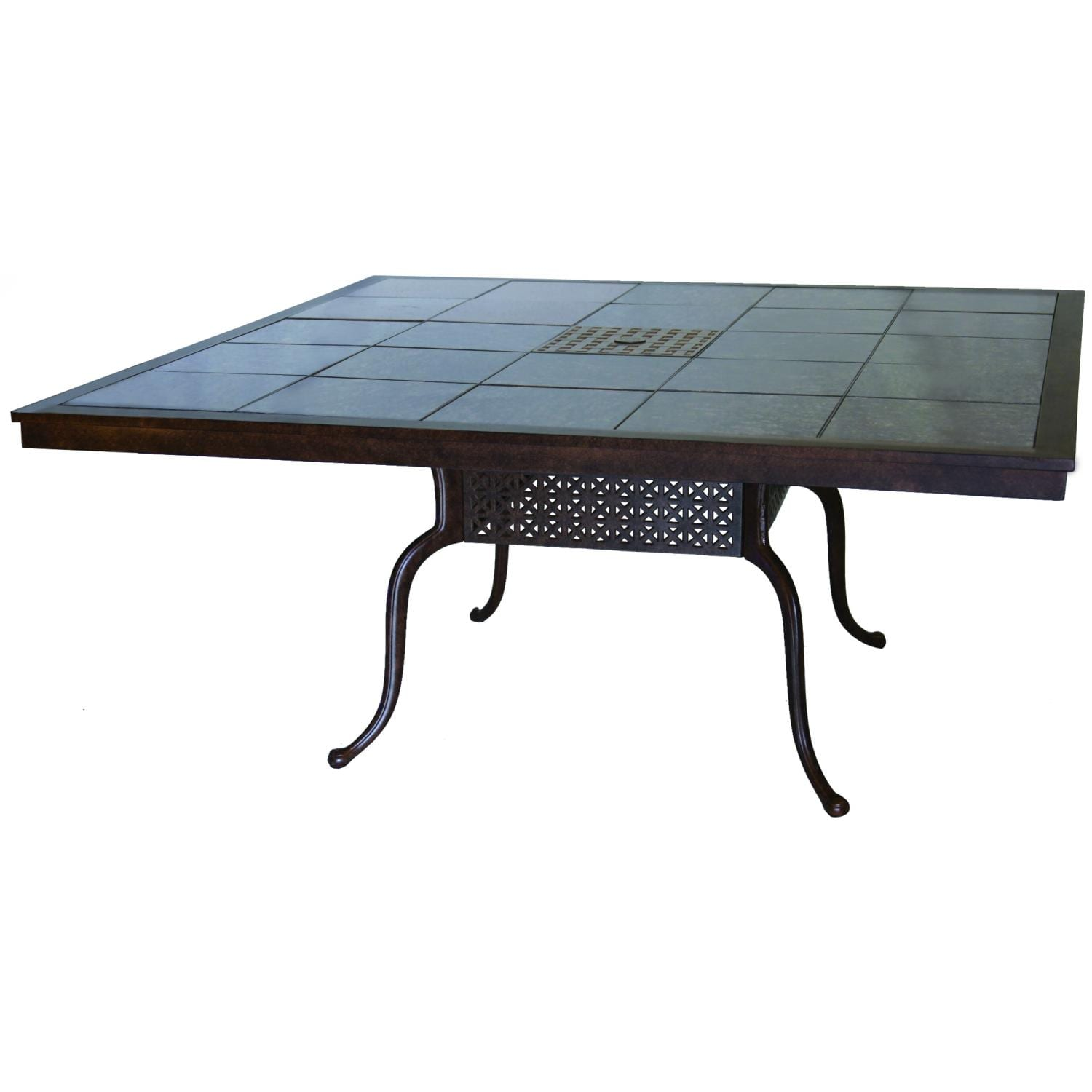 Darlee Series 77 Patio Dining Table   Mocha / Brown Granite Tile