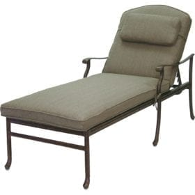 Darlee Sedona Cast Aluminum Patio Chaise Lounge U2013 Antique Bronze
