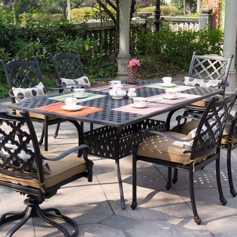 Darlee Camino Real 7 Piece Cast Aluminum Patio Dining Set