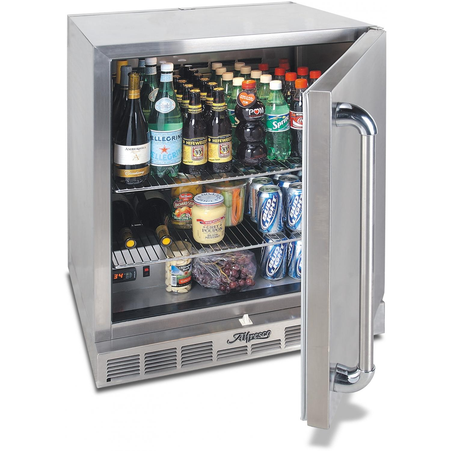 Alfresco Compact Refrigerator 28 Inch Under Counter Kegerator