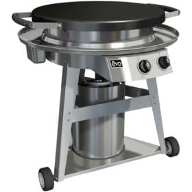 Evo Professional Classic Wheeled Cart Flattop Natural Gas Grill With Ceramic Cooking Surface